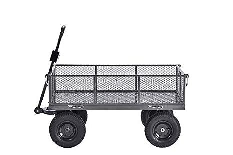 Muscle Carts CW4824,SV Steel Utility Garden Wagon Amazon