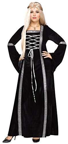 Women's Plus Size Throne Queen Costume, Black
