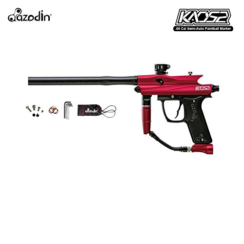 Barrel Gun Autococker Paintball (Azodin Kaos 2 Paintball Gun Package - Red / Black)