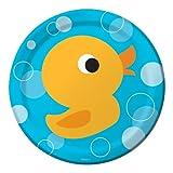 Creative Converting Lil' Quack Round Dessert Plates, 8 Count, Health Care Stuffs
