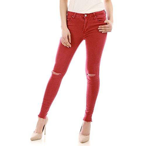 Rojo Modeuse Mujer La Para Vaqueros gTqaa1p
