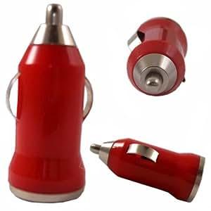 USB para cargador de coche Puerto para LG G Stylo (CDMA)- rojo