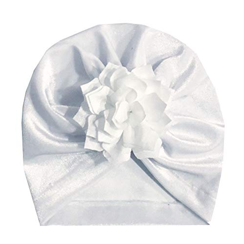LIULIULIUBaby Hat- Newborn Baby Girl Soft Cute Turban Knot Turban Hospital Hat (White) ()