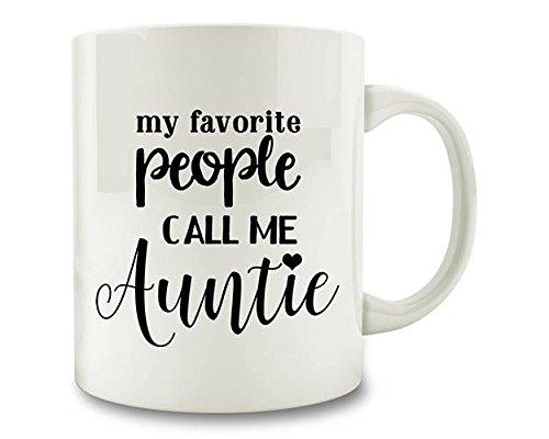 LIZNICE - My Favorite People Call Me Auntie Coffee Mug (D93), MUG - The Tiffany Show Color Me Blue