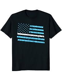 Thin White Line American Flag Shirt - EMS EMT Paramedics USA