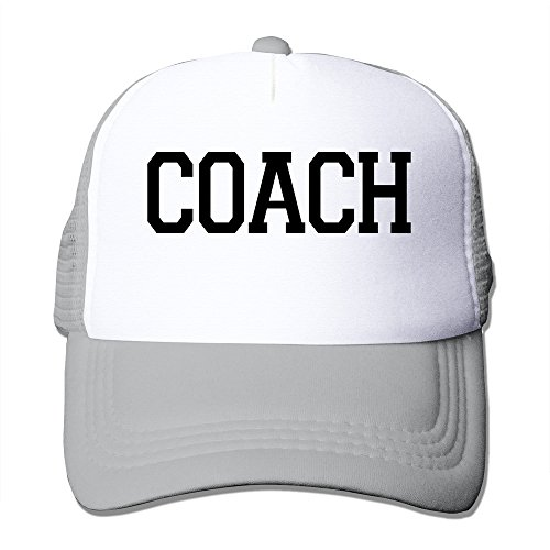 Unisex Coach Adjustable Mesh Cap Ash