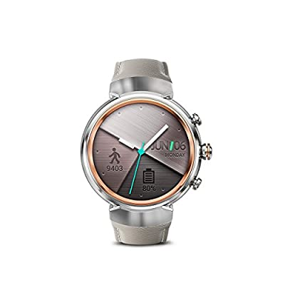ASUS ZenWatch 3 WI503Q-GL-DB 1.39-inch AMOLED Smart Watch with dark brown leather strap from ASUS Computers
