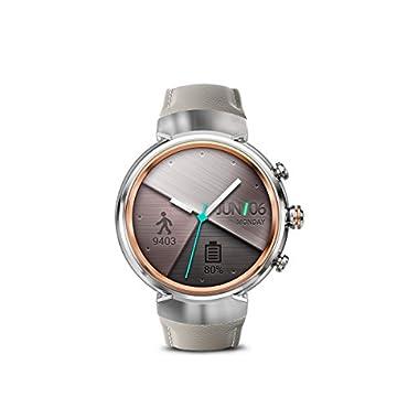 ASUS ZenWatch 3 Smart Watch with Beige Leather Strap (WI503Q-SL-BG)