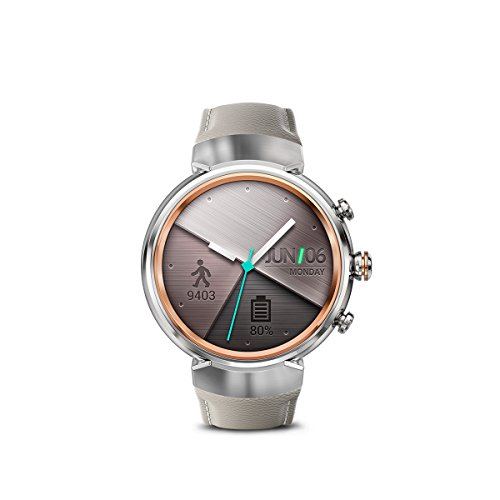 ASUS ZenWatch 3 WI503Q GL DB 1.39 inch AMOLED Smart Watch with dark brown leather strap