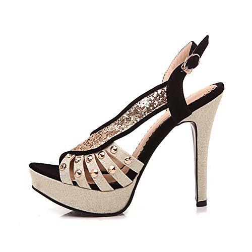 Adee Womens Peep-Toe Composite Western Soft Material Sandals Black eSUluf
