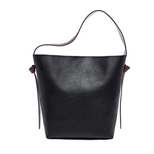 Le Donne Di Grande Capacità Secchiello In Pelle Tote Bag Borsa A Tracolla A