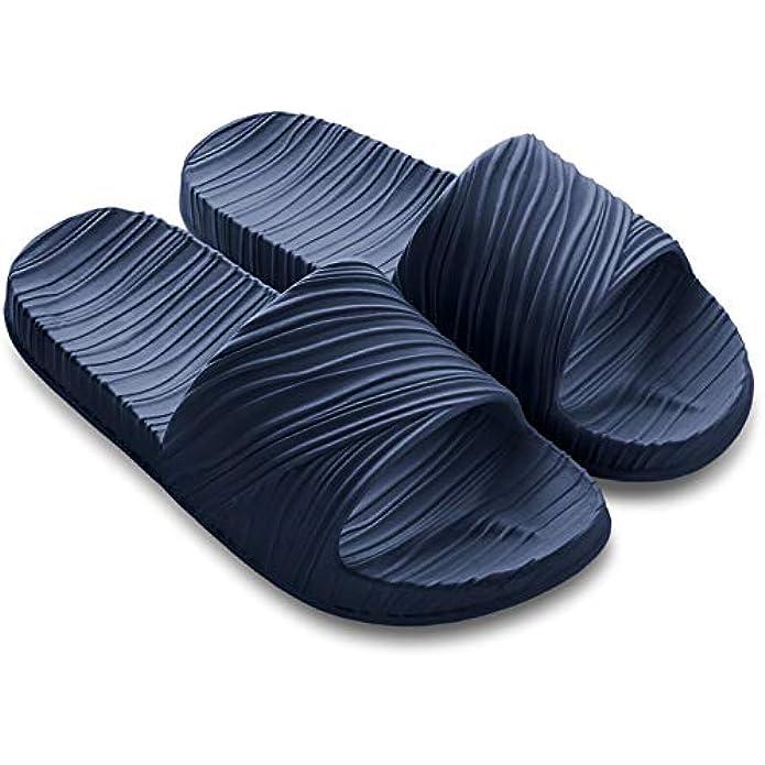 Bigant Bathroom Shower Shoes Slides House Gym Slipper Quick Dry Sandals,Non-Slip Light Weight