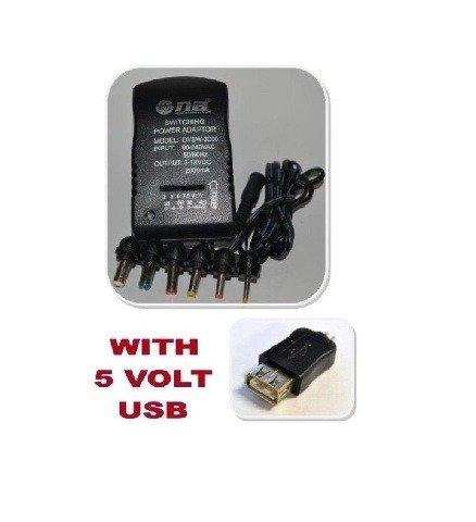 Nippon America 2000mA Universal Adapter Multiple AC 3v 5v...