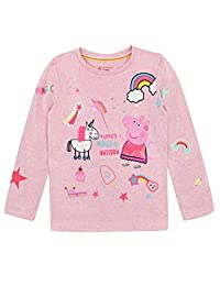 Peppa Pig Girls' Unicorn Long Sleeved Top