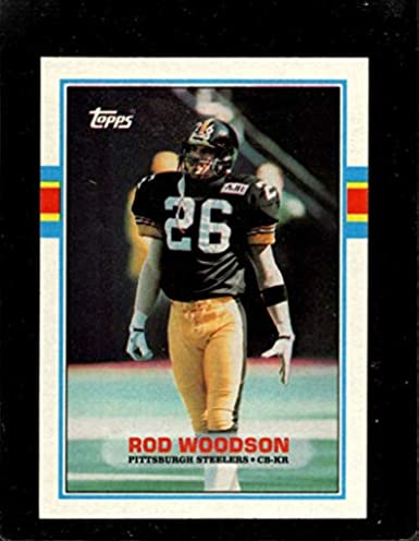 410367a6be9 Amazon.com: 1989 Topps #323 Rod Woodson RC Rookie Steelers NFL Football:  Collectibles & Fine Art