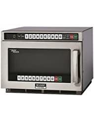 Sharp Heavy Duty Twin Touch Commercial Microwave - 1800 Watt