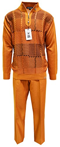 STACY ADAMS Men's Sweater & Pant Set, GEO Square Design, used for sale  Delivered anywhere in USA