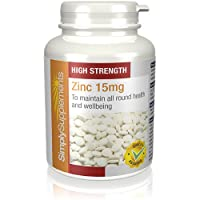 Zinc 15mg   Support for Immune & Skin Health   120 Tablets   100% money back guarantee   Manufactured in the UK