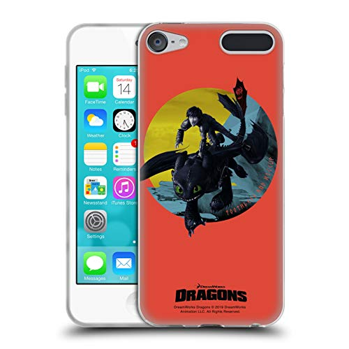 (Official How to Train Your Dragon 2 Duo II Hiccup and Toothless Soft Gel Case Compatible for Apple iPod Touch 6G 6th Gen)