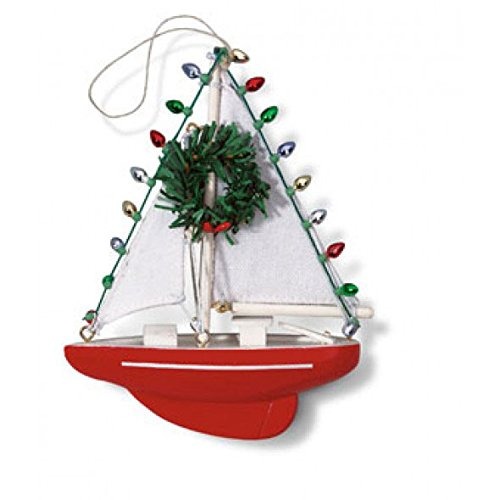 Nautical Sailboat Sailing Sail Christmas Ornament (Christmas People Ornament)