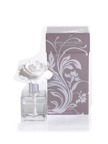 Zodax Jardin De Rochelle Porcelain Diffuser Square Glass Bottle Dahlia by Zodax