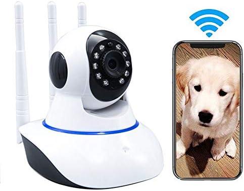 LEERAIN Monitor Perro Camara Mascotas CáMara IP Gato 720P \ 1080P HD InaláMbrico WiFi TeléFono Inteligente Remotamente Casa con Pan Tilt Vision Nocturna ...