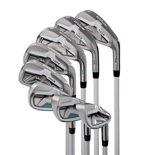 Wilson Velocity HDX Women Right Hand Stiff Flex Steel Iron 4-PW+SW Golf Club Set ()