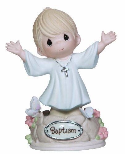 Precious Moments Boy Baptism Figurine, 132019