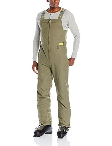 Arctix Women's Men's Avalanche Insulated Bib Overalls, Military Green, X-Large
