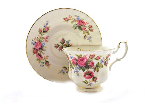 Royal Albert Valentine Moss Rose Cup and Saucer