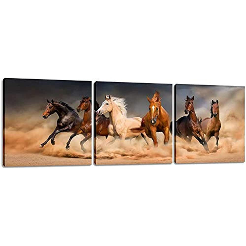 ZWPT394 large animal hand-painted horse home wall art oil painting on canvas