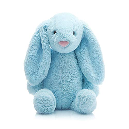 GUIIFAN Rabbit Stuffed Animal Plush ,Soft Comfort Stuffed Toy for Baby and Kids 8 Inch ,Blue (Rabbit Blue Plush Bunny)