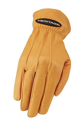 Heritage Trail Gloves, Size 10, Natural (Secure Tan Leather)