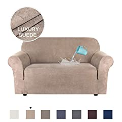 This beautiful H.VERSAILTEX SUEDE furniture slipcover can not only prevent dirt, but also renew your home. Machine washable, relieve housework, save bill cost on cleaning.       Measure Guide       To make sure getting the perfect fitt...