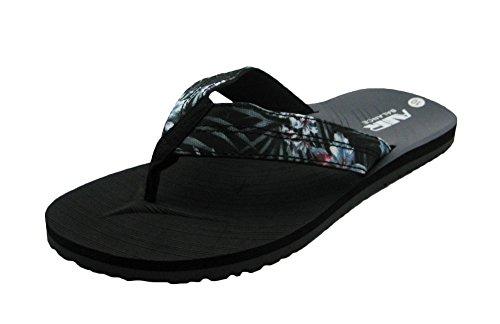 Air Light & Comfortable Men's Classy Shower Beach Sandal Slippers Hawaiian Black/Gray