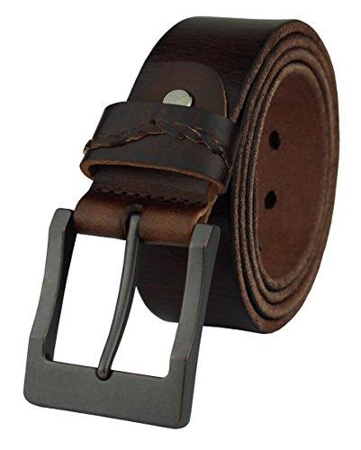 Vintage Designer Belts (Heepliday Men's Simple Casual Soft Vintage Leather Belt Medium 32-34)