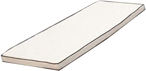 ZOUDIN Indoor Outdoor Swing Bench Cushion Veranda Wicker Cushion Pad-White 120x40cm 47x16inch