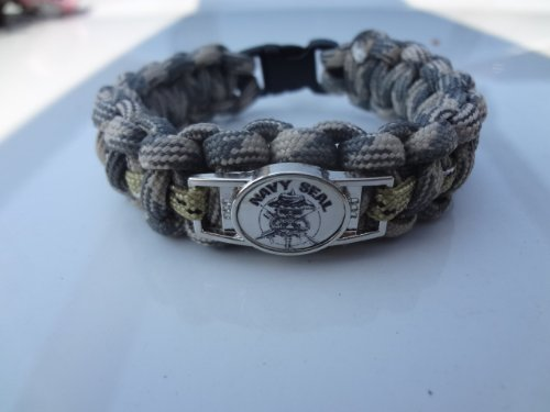 navy seal paracord survival bracelet with charm by