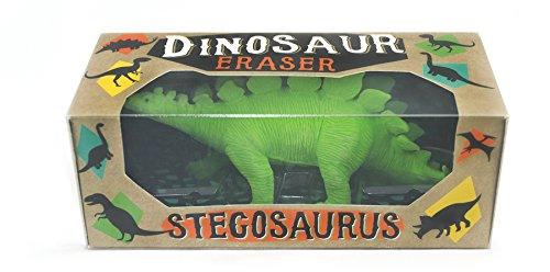 OOLY, Stegosaurus Leaf Green Dinosaur 5 x 2.5 Inch Large Rubber Eraser (Dinosaur Eraser)