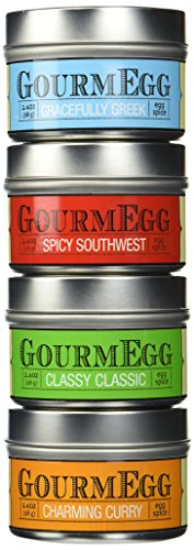 Gourmegg 4 Flavor Seasoning Gift Set(Eggs, Chicken, Seafood, BBQ ) - 4 Pack
