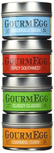 Gourmegg 4 Flavor Seasoning Gift Set(Eggs, Chicken, Seafood, BBQ ) - 4 Pack