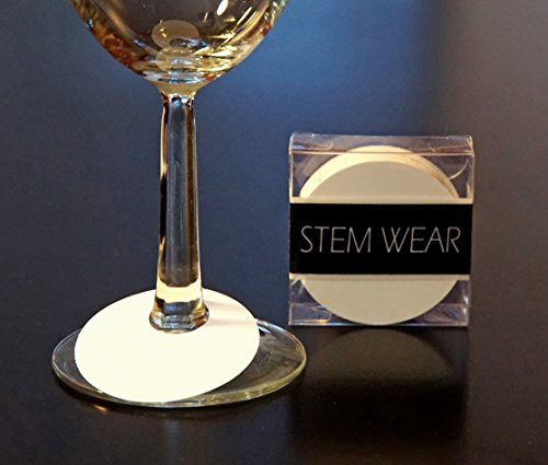 50 Wine Glass Identification Tags - Disposable Paper Tags - STEM WEAR by Red Fox - Glasses Names