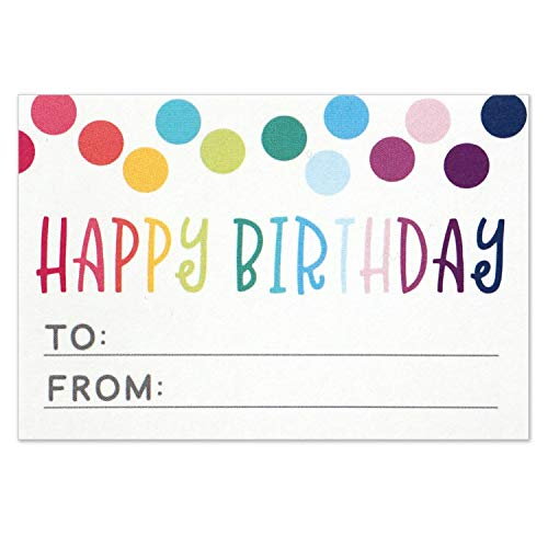 Happy Birthday to from Sticker for Gift Tag Labels - Birthday Present Stickers - Size 3x2 Inches - Pack of ()