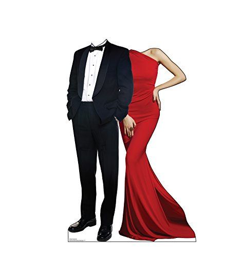 (Advanced Graphics Red Carpet Couple Stand-in Life Size Cardboard Cutout)