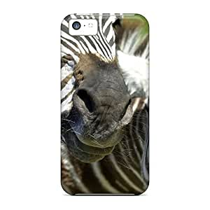LJF phone case iphone 5/5s Hard Back With Bumper Silicone Gel Tpu Case Cover Zebras (african Animals Wallpaper)