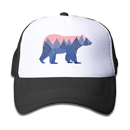 Waldeal Bear Mountain Youth Toddler Mesh Hats Boys and Girls Baseball Trucker Cap Black