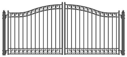 Dublin Style Iron Wrought Gate 12' Driveway Gates Ornamen...