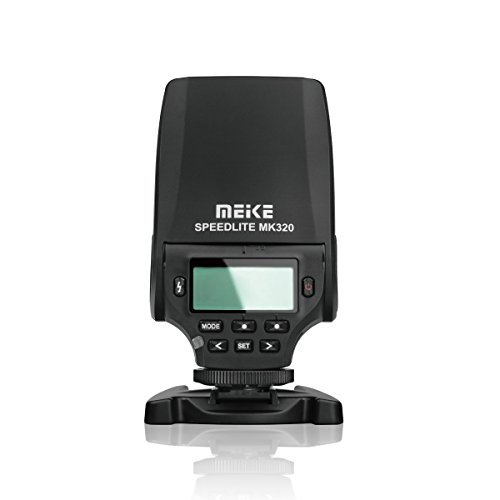MEIKE MK-320S Mini TTL Speedlite Automatic Flash for Sony MI Hot Shoe DSLR and Mirrorless Cameras A7 A7II NEX6 A6000 A6300 A6500 (Sony A58 Flash)