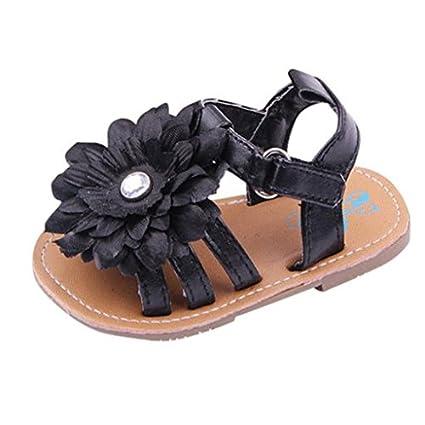 df5756e57a3e3 Amazon.com : Morrivoe Infant Baby Girl Big Flower Anti-Slip Soft ...