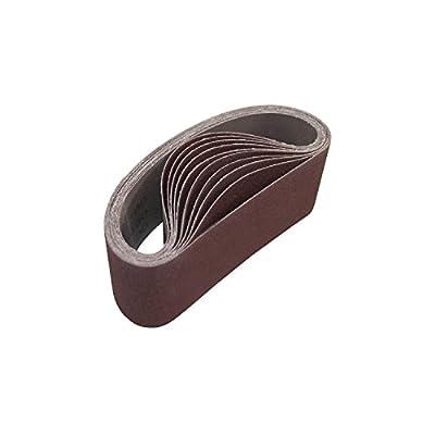 ALEKO 3-Inch x 18-Inch 100 Grit Aluminum Oxide Sanding Belt, 10-Pack by ALEKO